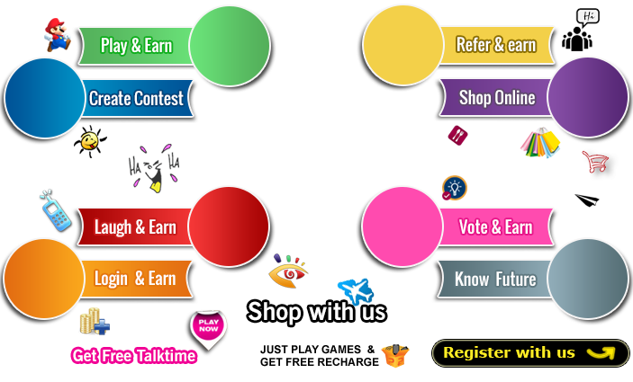 Play online game earn Recharge