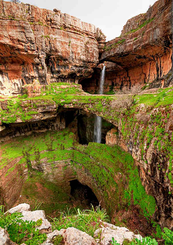 The Cave of Three Bridges, Tannourine, Lebanon.