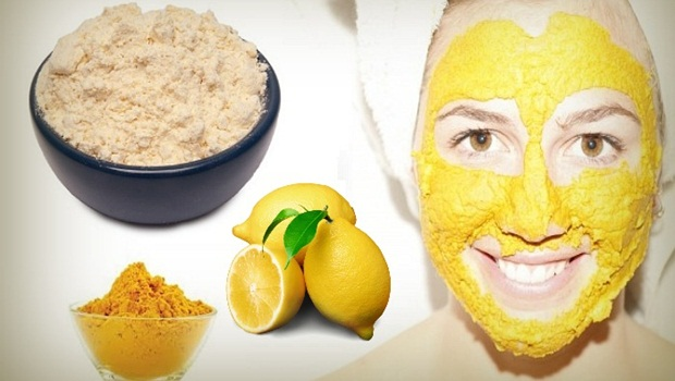 turmeric-lemon-juice-and-gram-flour-mask
