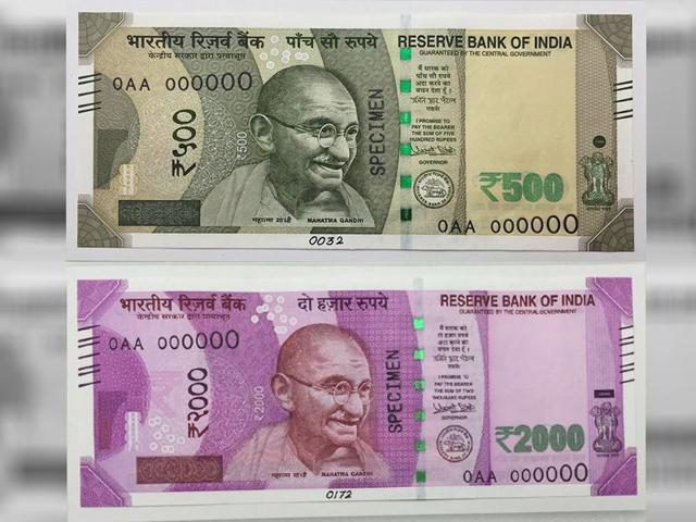 New-2000-and-500-Rs-Note-in-India