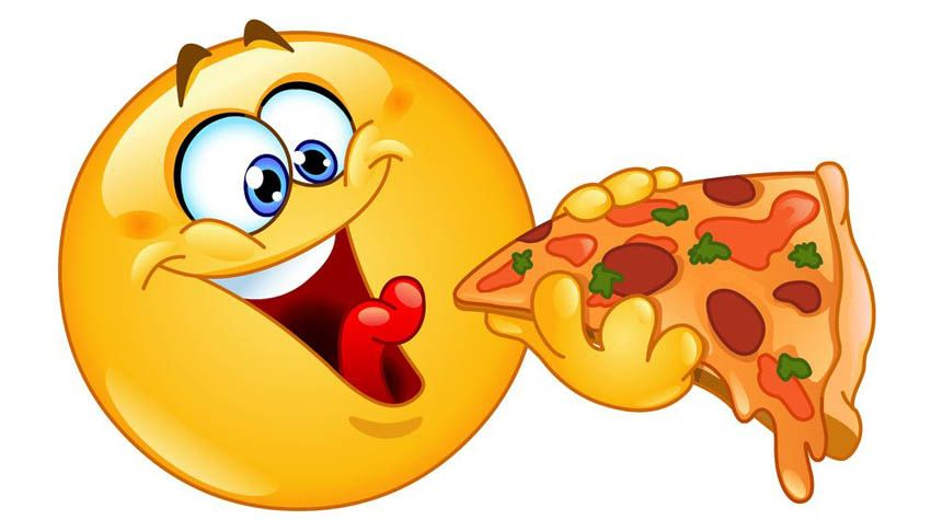 smiley-eating-pizza-EOBH2Y-clipart