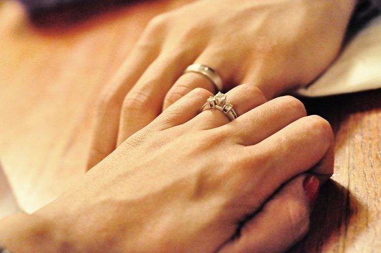 Engraved promise rings for men